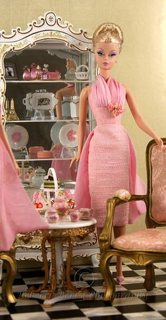 Barbie in her French apartment...yes! She has a French apartment!