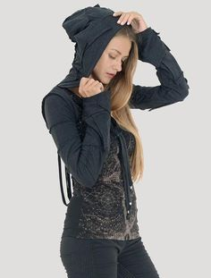 f0d33af236bf Pecoa Sleeves Rmx Festival Outfits, Festival Fashion, Festival Wear, Crop  Top Hoodie,. Psylo Fashion