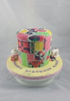 Patchwork cake  - Cake by All things nice