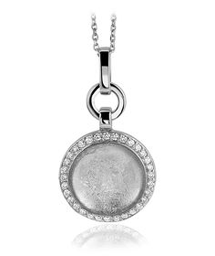 Interchangeable Coin Pendant Necklace Silver Plated including Belcher Chain '25-30 inch - White P6O1SBmouB