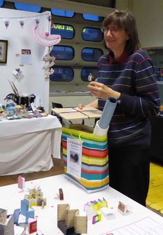 Sally Chinea : Winner of the 'Peoples Choice' Match box challenge for her book on Hadliegh Fire Station. Working On Saturday, All Craft, Craft Items, Handmade Crafts, Sally, Challenges, Fire, Artists, Box