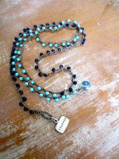 Crochet wrap bracelet necklace 5x wrap bracelet by beadpeacelove