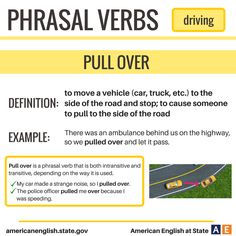 Phrasal Verbs: Driving - Pull Over