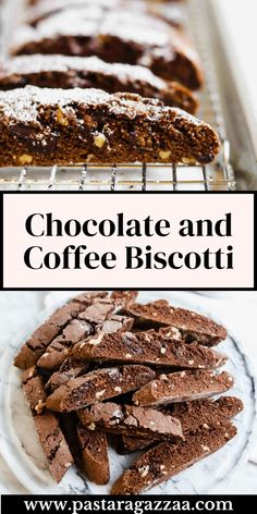 Yummy Treats, Delicious Desserts, Sweet Treats, Double Chocolate Biscotti Recipe, Baking Recipes, Cookie Recipes, Baking Packaging, Italian Christmas Cookies, Cake Flavors