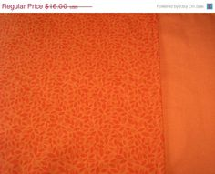 Table Runner Leaf Print Burnt Orange Padded Reversible Solid Rust