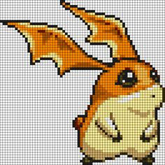 Patamon Digimon Perler Bead Pattern
