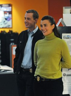 Office Humor Special Agents Ziva David (Cote de Pablo) and Timothy McGee (Sean Murray) share a laugh at work, on NCIS. Photo: Ron P. Jaffe/CBS © 2011 CBS Broadcasting, Inc. All Rights Reserved.