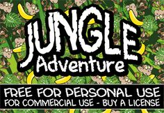 1000 images about jungle font type inspo on