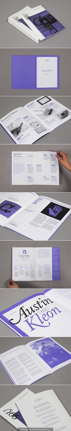 I love the simplicity of this magazine, pairing the black and white set up of the magazine with a vibrant colour like purple really compliments the design and images used.