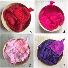 Newborn Baby Photography Prop Voile Wrap+Hat Newborn Photography Wraps Handmade Crochet 15 Color Hat Bebe Photo Props Accessory