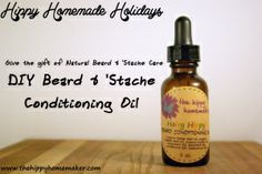 Hairy Hippy Beard Conditioning Oil (several scent combinations)  |  TheHippyHomemaker