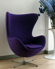 room furniture, Arne Jacobsen Egg chair, fabric egg chair, leather egg ...