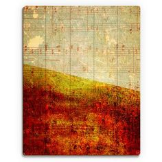 """Click Wall Art 'With the Sound of Music' Graphic Art on Plaque Size: 14"""" H x 11"""" W x 1"""" D"""