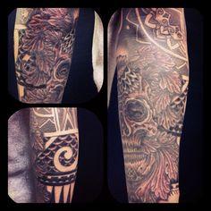#tribal  #skull #reikotattoo #tattoo