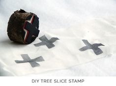 DIY tree slice stamps