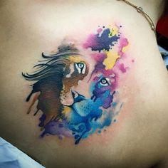 Resultado de imagem para tattoo aquarela estudio