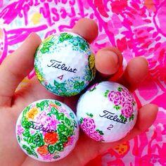 Lilly Pulitzer golfballs on @dailydoseof_prep on Instagram! Www.dailydoseofprep.Com