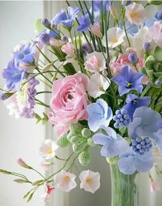 Bouquet of mixed flowers Beautiful Bouquet Of Flowers, Beautiful Flower Arrangements, Flowers Nature, Fresh Flowers, Spring Flowers, Floral Arrangements, Beautiful Flowers, Wedding Flowers, Pastel Flowers