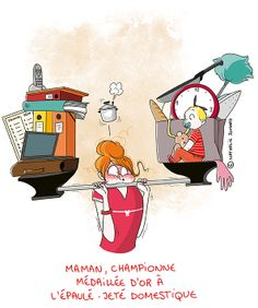 © Nathalie Jomard - Illustration ~ Humour ~ Super maman http://grumeautique.blogspot.fr/