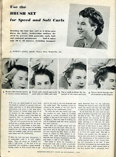 Use the Brush Set for Speed and Soft Curls College Hairstyles, 1940s Hairstyles, Retro Hairstyles, Wedding Hairstyles, Beauty Book, Hair Beauty, 1920s Long Hair, Medium Hair Styles, Long Hair Styles