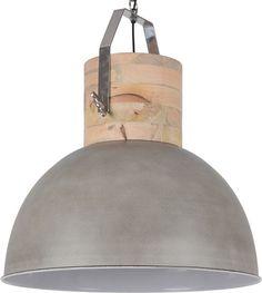 Hanglamp Fabriano 50 cm - cement + witte binnenzijde