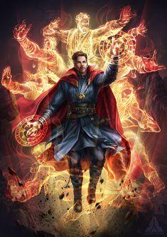 ArtStation - Avengers : Infinity War - Doctor Strange, Jaynorn Lin,w Marvel Dc Comics, Marvel Avengers, Marvel Fanart, Hero Marvel, Bd Comics, Marvel Memes, Captain Marvel, Captain America, Hawkeye Marvel