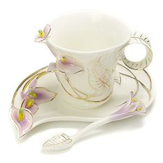Coffee Cup Set, Tea Cup Set, 1 Cup, Cute Tea Cups, Teapots And Cups, Teacups, Tea Service, How To Make Tea, Chocolate Pots