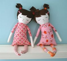 Emily Martin does a great tutorial on Martha Stewart for Black Apple Dolls. Maybe Addy and I should try this.
