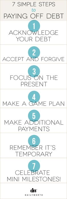 7 Simple Steps to Paying Off Debt