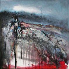 Grazyna TARKOWSKA - Fort et brouillard - Peinture - Huile sur toile