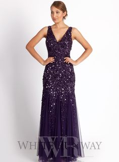 Molly Sequin Dress by Mr K.  A sophisticated full length dress by Australian designer Mr K. A V-neck style featuring shiraz sequins and a chiffon skirt. V-neckline Perfect for Bridesmaids and Mother of the Brides Concealed back zip