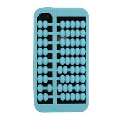 Chinese Style Abacus Soft Silicone Case for iPhone 4/4S - Light Blue US$2.99