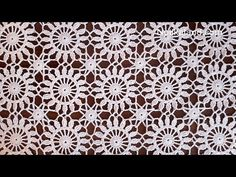 Crochet easy Motif for shawl Part 2 How to join motifs Crochet Boarders, Crochet Circles, Crochet Stitches Patterns, Crochet Squares, Granny Squares, Thread Crochet, Crochet Designs, Crochet Crafts, Easy Crochet