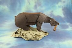 Grizzly and Salmon by Quentin Origami, via Flickr