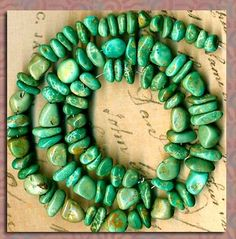 """Mexican Campo Frio Turquoise Beads 16"""" Strd Natural Color Genuine 2 Sizes LG SM 