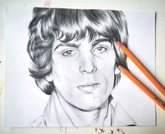 Black and white drawing of Syd Barrett from Pink Floyd Pencil Drawings, Art Drawings, Drawing Art, Black And White Drawing, Black Pencil, Pink Floyd, Favorite Person, David Bowie, Cool Artwork