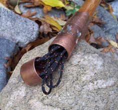 Add Decorative and Functional Copper Ends to a Hiking Staff.This is Part 2 in the Multi-Function Walking Stick Instructables series.The original Multi-Function. Wooden Walking Sticks, Walking Sticks And Canes, Walking Canes, Survival Tools, Survival Prepping, Tactical Survival, Survival Stuff, Wilderness Survival, Tactical Gear