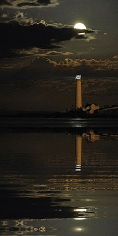 Lighthouse at Night GIF