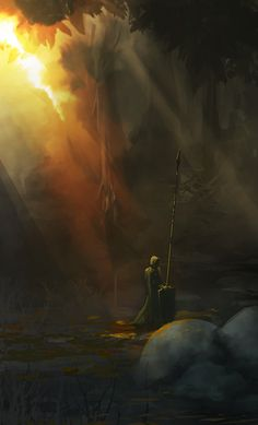 Alone in the Forest, spitpaint by cobaltplasma on DeviantArt