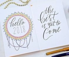 """111 Likes, 2 Comments - ⭐Sheena of the Journal⭐ (@sheenaofthejournal) on Instagram: """"2018 AND January printables available now ! . . . #bulletjournal #bulletjournaling…"""""""
