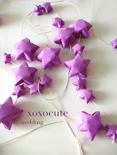 wedding CONFETTI - origami stars decoration