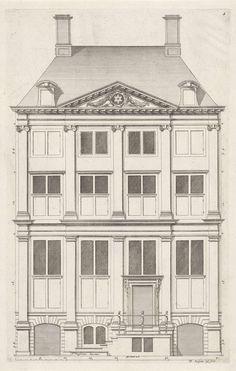 Gevel van huis De Star of De Ster te Amsterdam, Bastiaen Stopendael, 1674