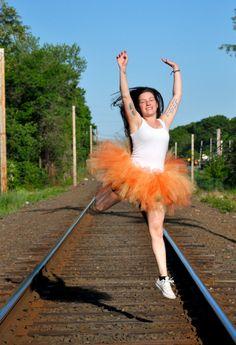 Yellow & Orange Sunset Adult Tutu by OhSoPrettyDesigns on Etsy halloween, tutu, dance photography, costume