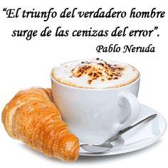 Mientras tomamos un café... ¡Hoy nos toca hablar del triunfo! Es normal tropezarse y caer. De hecho, el cometer errorse es lo que nos hace hombres y nos permite crecer.  ¡Esperamos vuestras frases!