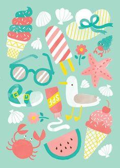 SUMMER PATTERNS - Jacqui Lee Illustration