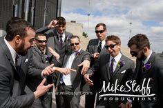groomsmen acting like bridesmaids
