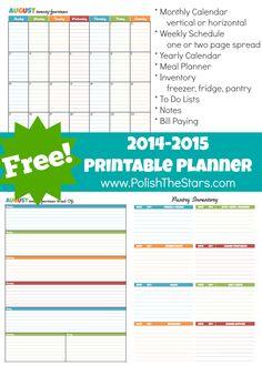 Polish The Stars: FREE 2014-2015 Printable Planner