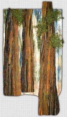 Marjan Kluepfel: Fabric Artist-Quilt Teacher - Trees Gallery oh my. Patchwork Quilting, Applique Quilts, Fiber Art Quilts, Textile Fiber Art, Thread Painting, Thread Art, Landscape Art Quilts, Collage Landscape, Landscapes