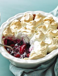 Berry baked meringue - Sainsbury's Magazine