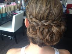Bella Angel Wedding Hair & Makeup, Philadelphia & South Jersey  updo hairstyle with braid  http://www.bella-angel.com/